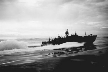 New 5x7 World War II Photo: PT's Patrolling off the Coast of New Guinea