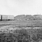 New 5x7 Civil War Photo: Confederate Fort & Military Boxcars at Manassas, 1862