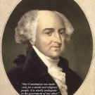 New 8x10 Photo: American Founding Father John Adams with Famous Quote