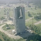 New 5x7 NASA Photo: Space Shuttle Enterprise in Marshall's Dynamic Test Stand