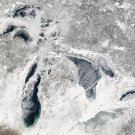 New 5x7 Photo: Snowy Great Lakes Superior, Michigan, Huron, Erie & Ontario