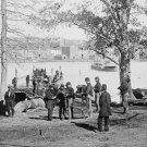 New 5x7 Civil War Photo: Guards at Ferry Landing on Mason's Island