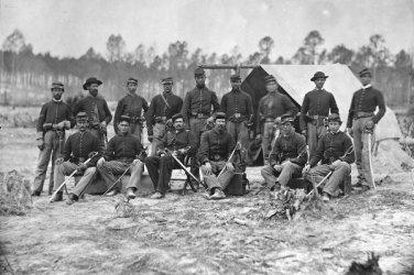 New 5x7 Civil War Photo: Detachment of the 3rd Indiana Cavalry near Petersburg