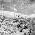 New 5x7 World War II Photo: Marines Taking the Beach at Cape Gloucester