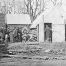 New 5x7 Civil War Photo: Winter Quarters of 3rd Corps Quartermaster, Virginia