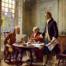 13x17 Poster: Franklin, Jefferson & Adams Write the Declaration of Independence