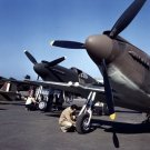 New 5x7 World War II Photo: P-51 Mustang Fighter Planes Ready for Flight