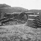 New 5x7 Civil War Photo: Parrott Guns & Shells inside Fort Putnam, Morris Island