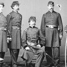 New 5x7 Civil War Photo: Union - Federal General Daniel Sickles & Staff