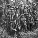 New 5x7 World War II Photo: Marine Raiders at Bougainville Solomon Island, 1944