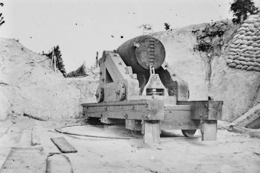 New 5x7 Civil War Photo: Confederate Battery on the James River, Dutch Gap