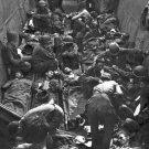 New 5x7 World War II Photo: Casualties on Stretchers at Munda Point, New Georgia