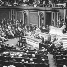 New 5x7 World War I Photo: President Woodrow Wilson Addresses Congress, 1917