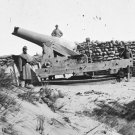 New 5x7 Civil War Photo: Confederate Gun with Muzzle Shot Off, Fort Fisher