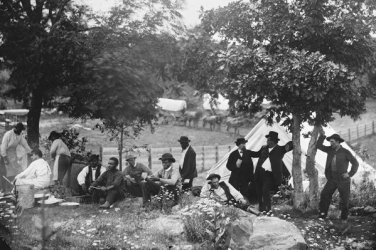 New 5x7 Civil War Photo: Camp of Federal Captain John Hoff at Gettysburg, 1865