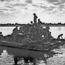 New 5x7 World War II Photo: Soldiers Crossing the Irrawaddy River near Tigyiang