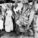 New 5x7 World War II Photo: Chaplain Holds Mass Services for Lost in Saipan