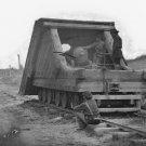 New 5x7 Civil War Photo: Railroad Gun and Crew on Track near Petersburg