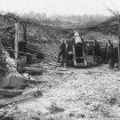 New 5x7 World War I Photo: Camouflaged German 16-inch Gun Battery