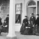 New 5x7 Civil War Photo: Officers and Ladies at Garrison House, Fortress Monroe