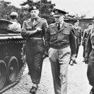 New 5x7 World War II Photo: General Dwight D. Eisenhower Inspecting Tank