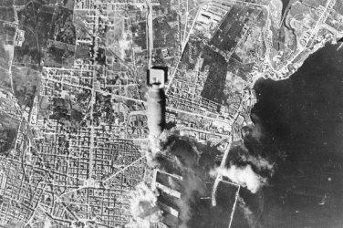New 5x7 World War II Photo: B-17 Aircraft Fly thru Barrage of Anti-Aircraft Fire