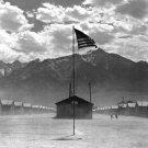 New 5x7 World War II Photo: Dust storm at Japanese War Relocation Authority Camp