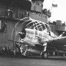 New 5x7 World War II Photo: Dynamic static 'Aura' of F6F aboard USS YORKTOWN
