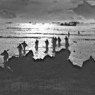 New 5x7 World War II Photo: American Invaders Hit the Beach of Tinian Island