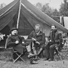 New 5x7 Civil War Photo: Union Officers in Camp at Harrison's Landing, Virginia