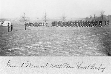 New 5x7 Civil War Photo: Guard Mount of the 164th New York
