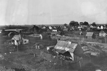 New 5x7 Civil War Photo: Town View of Hampton, Virginia