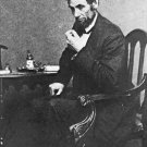 New 4x6 Photo: Reflective Pose of President Abraham Lincoln, 1861