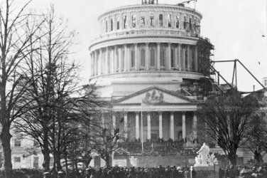 New 4x6 Photo: Inauguration of Abraham Lincoln at Capitol Building, 1861