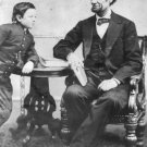 New 4x6 Photo: President Abraham Lincoln with his son Thomas, or 'Tad'