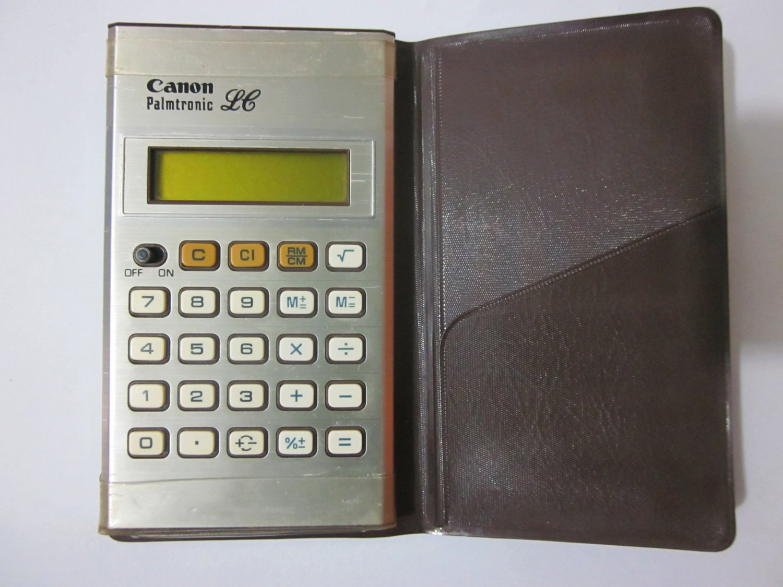 Vintage 1977 CANON PALMTRONIC LC-4 Calculator - Japan