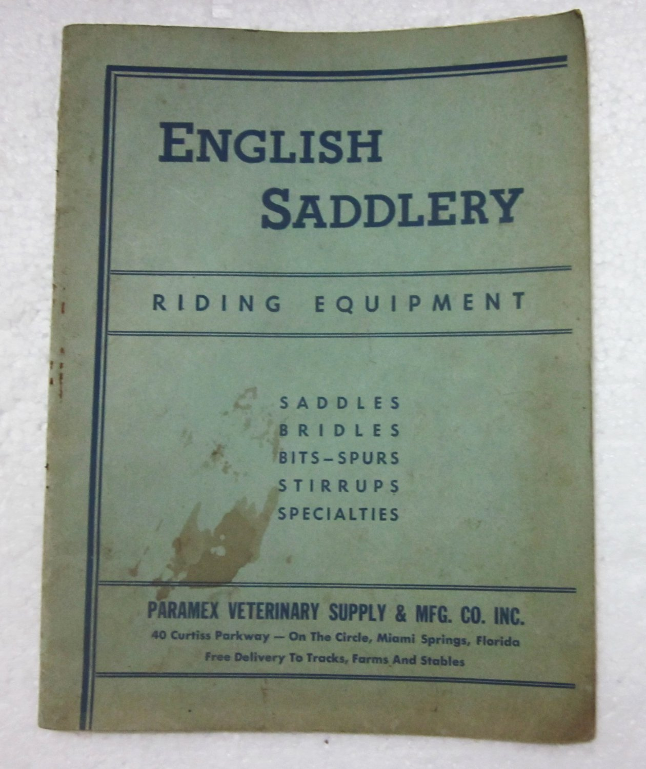 Vintage 1958 ENGLISH SADDLERY Catalogue- Saddles Bridles Bits-Spurs Stirrups