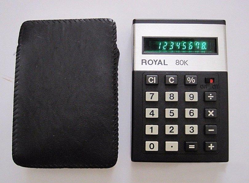 Vintage ROYAL 80K UA119 Calculator - Made in Japan 70's