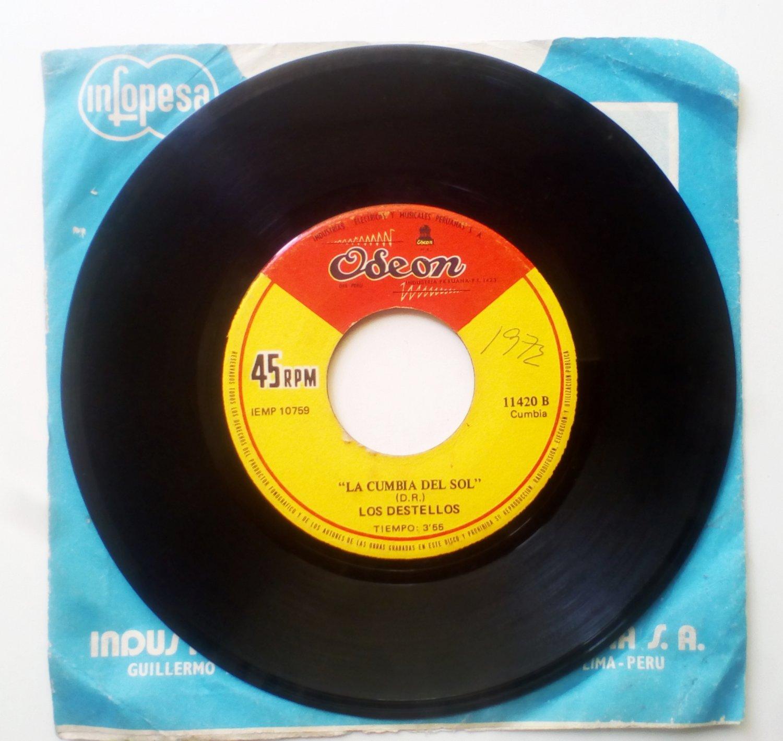 LOS DESTELLOS - La cumbia del sol - 45 RPM 7'' PSYCH CUMBIA PERU