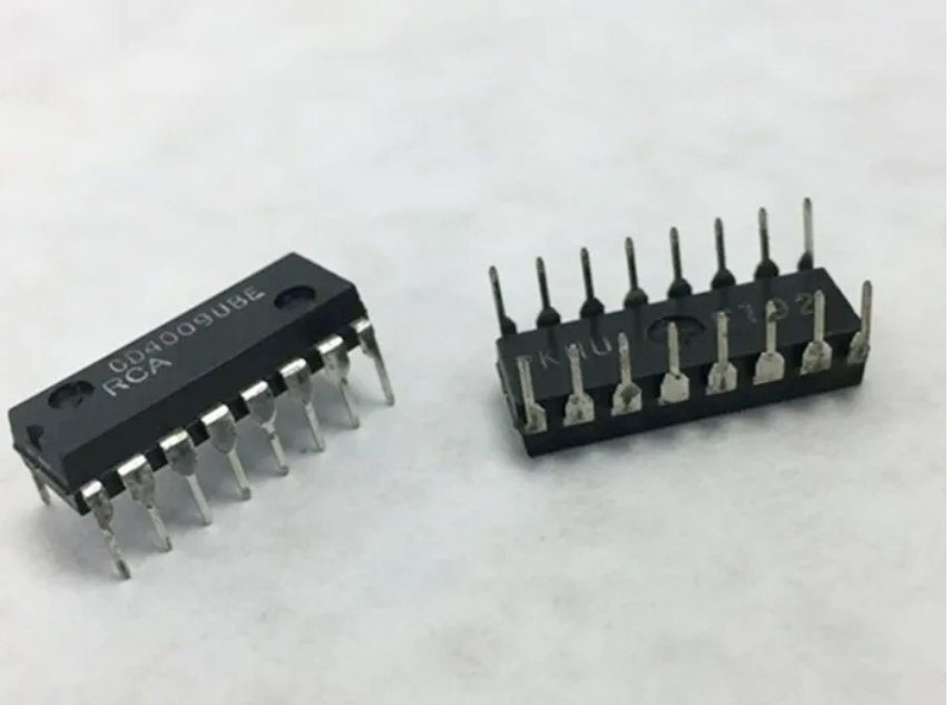 Lot of 2 pzs - RCA CD4009UBE Cmos Hex Inverter Buffer INTEGRATED CIRCUIT