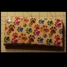 Duck tape women's wallet paw print