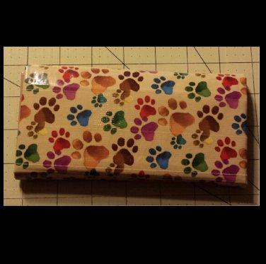 Duck tape women's wallet paw print