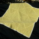 Yellow and white blanket