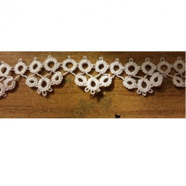 """Hand crafted Lace Trim """"Hens & Chicks"""""""