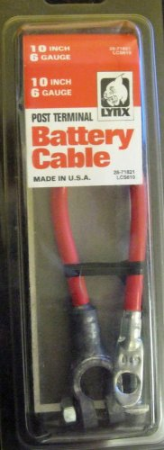 "10"" 6 Gauge Lynx Post Terminal Battery Cable #LCS610"