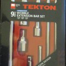 Tekton 9pc Combination Wobble Extension Bar Set #1660