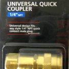 """MIT Brass Universal Quick Coupler 1/4"""" NPT #4727"""