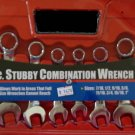 """MIT 8-Pc. Stubby Combination Wrench Set 7/16"""" - 1"""" SAE #1918"""
