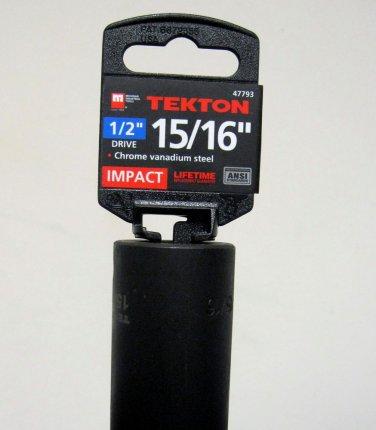 """MIT 1/2"""" Dr. x 15/16"""" SAE Deep Impact Socket #47793"""
