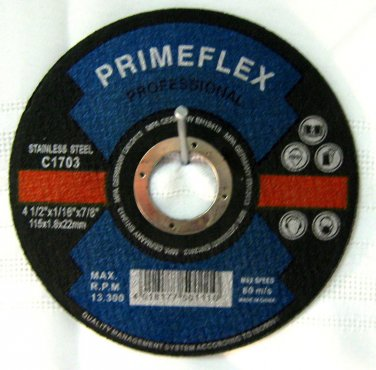 "Primeflex Prof Cutting Disc for Metal 4-1/2""x1/16""x7/8"" #C1703"